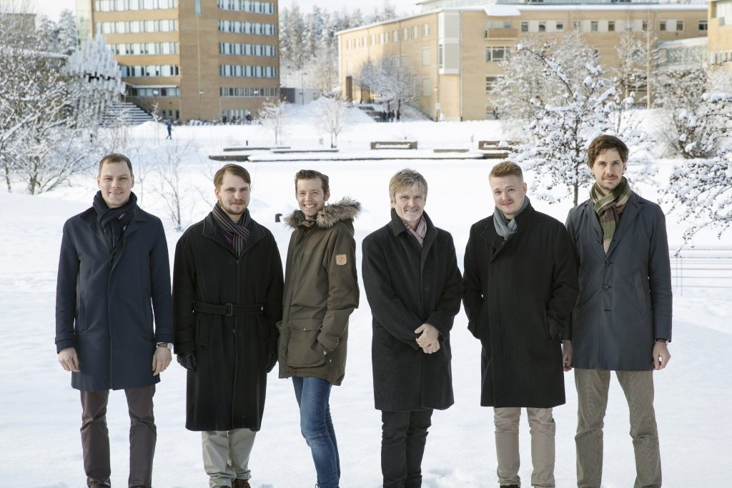 Elastisys: From the left, Robert Winter, Emil Marklund, Peter Gardfjäll, Erik Elmroth, Simon Kollberg, Johan Tordsson